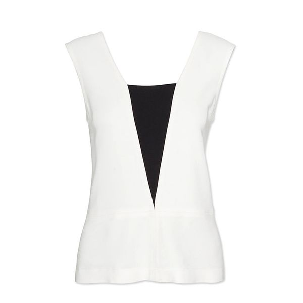A.L.C. Cut Out Contrast Inset Sleeveless Top