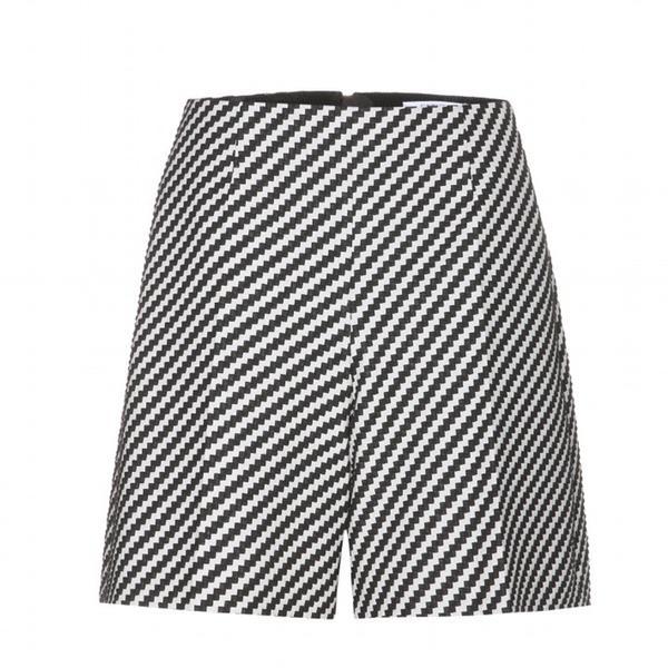 Carven ZigZag Cotton-Blend Shorts