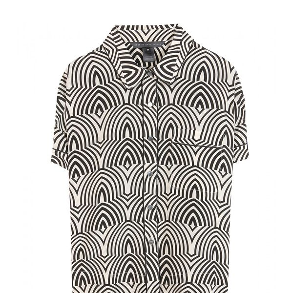 Marc by Marc Jacobs Gamma Print Silk Shirt