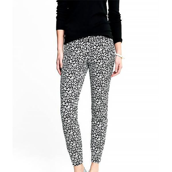 Banana Republic Sloan-Fit Leopard Print Slim Ankle Pant