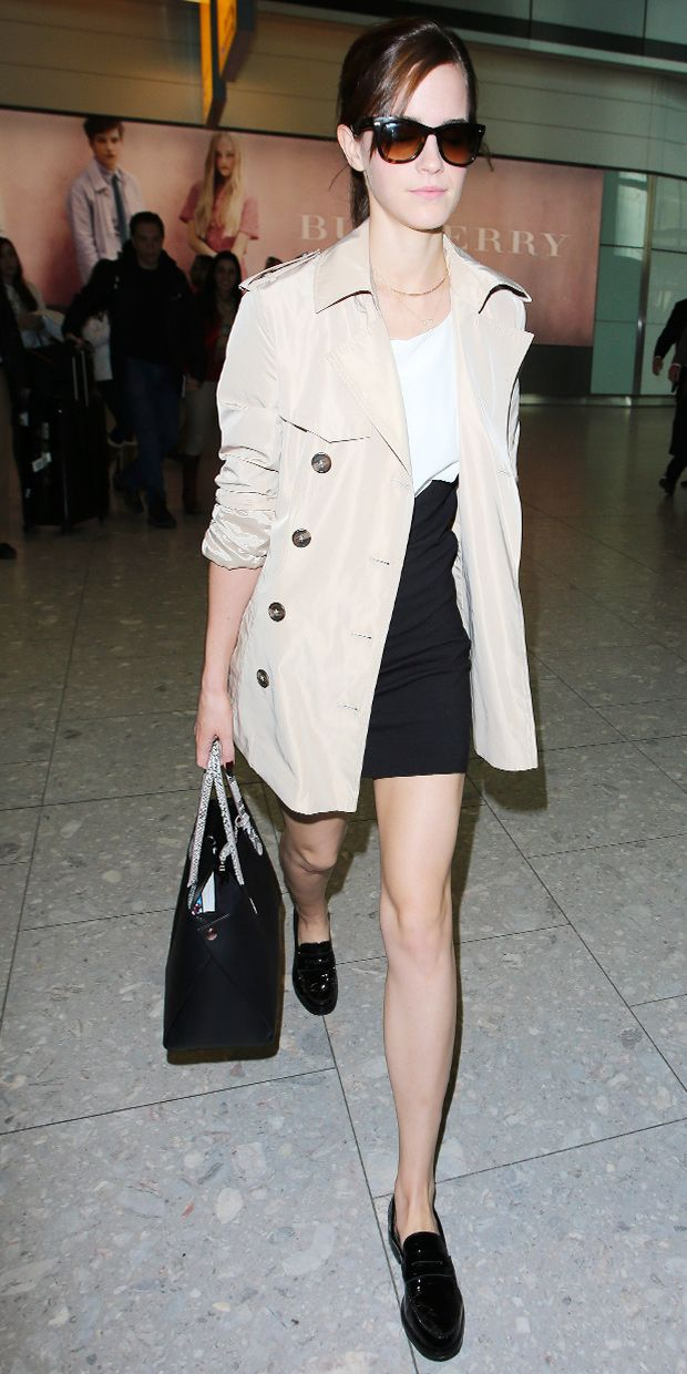 Emma Watson's Simply Chic Airport Look