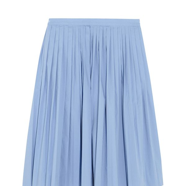 J. Crew Pleated Cotton-Blend Poplin Skirt