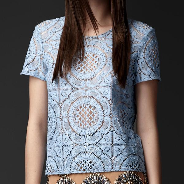 Burberry Prorsum English Trellis Lace T-Shirt
