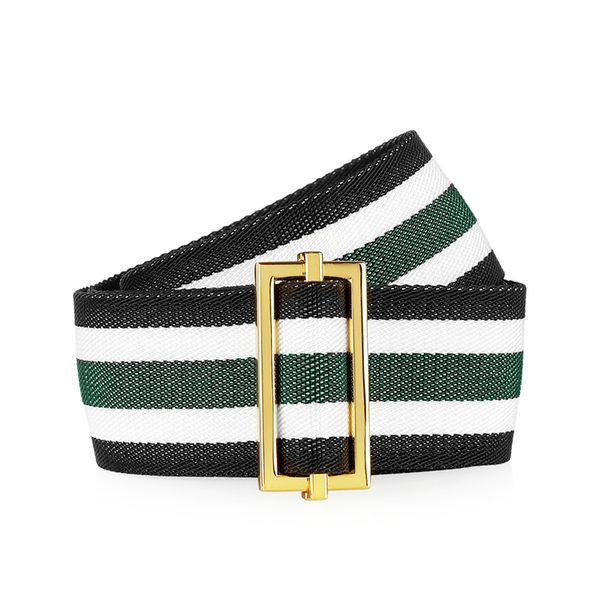 Marni Striped Grosgrain Belt