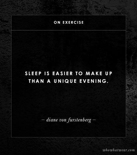 On A Good Night's Sleep