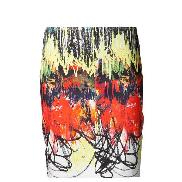 Cedric Charlier Scribble Print Skirt
