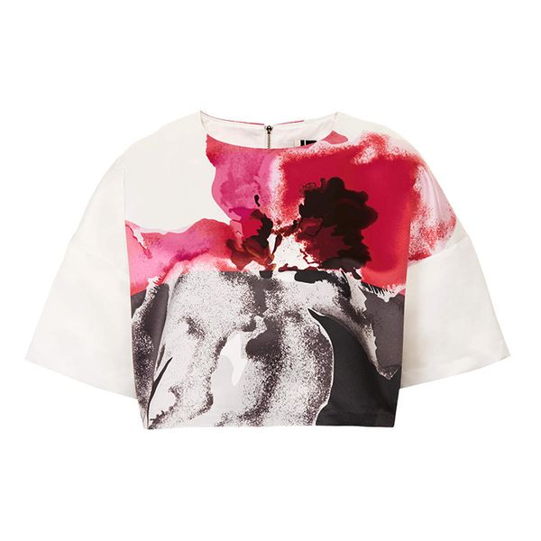 Topshop Limited Edition Floral Placement Print Tee