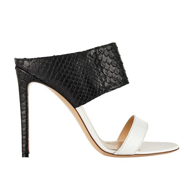 Gianvito Rossi Python and Leather Mules