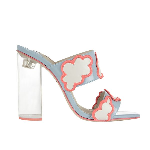 Sophia Webster Skye Cloud-Appliqued Patent-Leather Mules