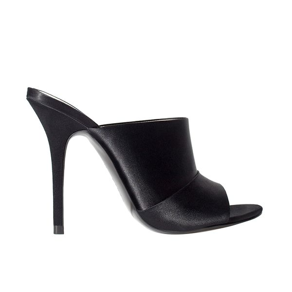 Leather Wide Heel Mule Zara