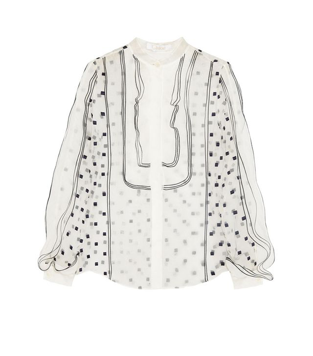 Add impact by picking a blouse with sweet flutter sleeves or dainty details, such as lace or embroidery.