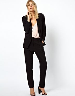 ASOS Blazer in Crepe with Slim Lapel and Pants