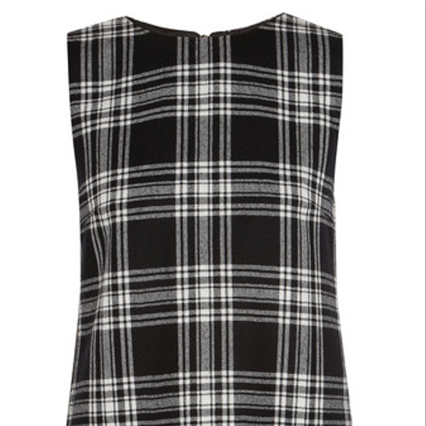Karl Lagerfeld Punk Tartan Wool Mini Dress