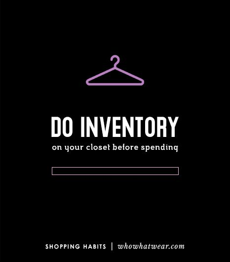 5. Do Inventory On Your Closet Before Spending 