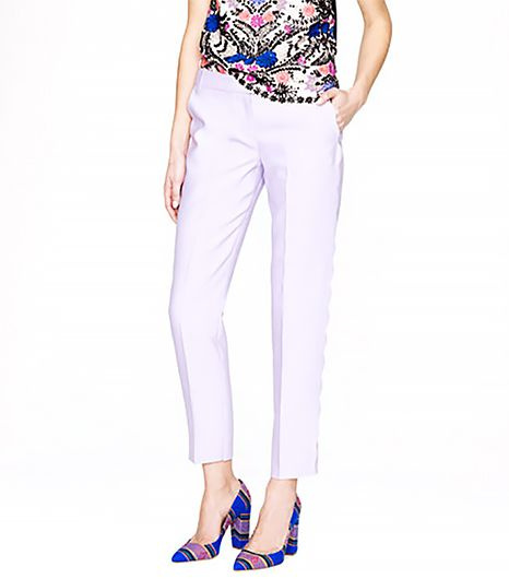J. Crew Collection Wool Silk Scalloped Pant