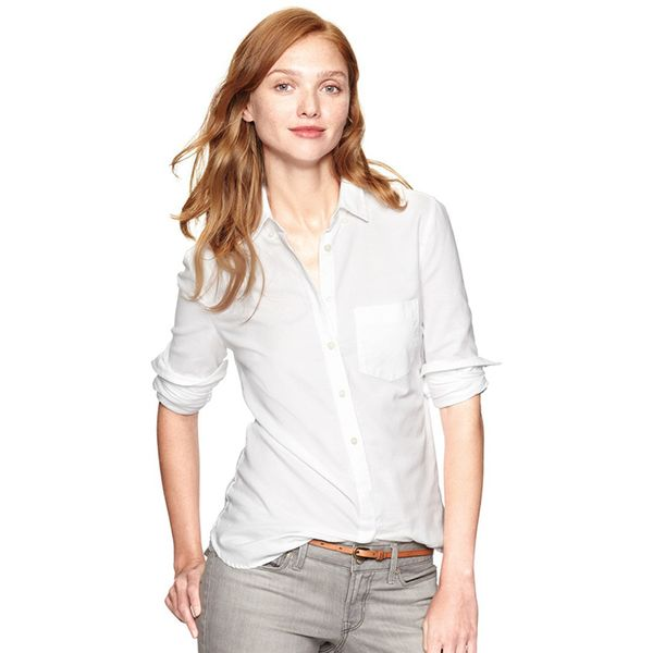 Gap Shrunken Boyfriend Shirt