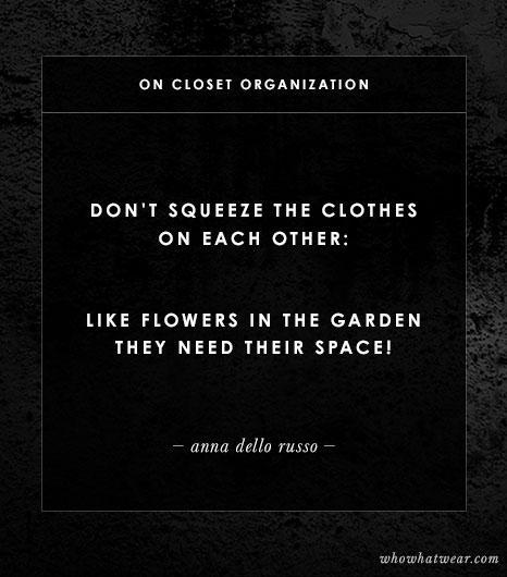 On Closet Organization