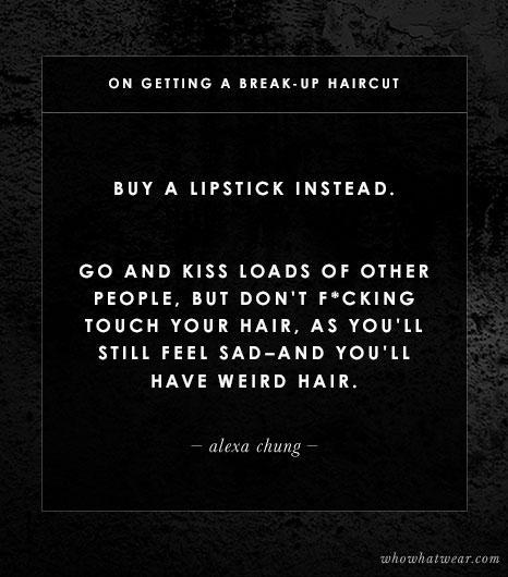 On Breakup Haircuts