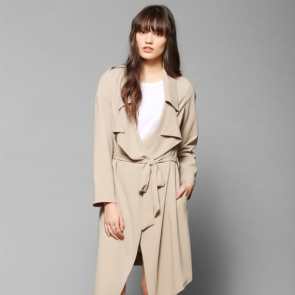 UNIF Flasher Drapey Trench Coat