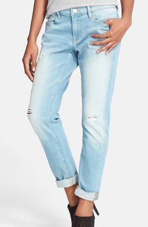 Frame Denim Le Garcon Slim Cuffed Jeans
