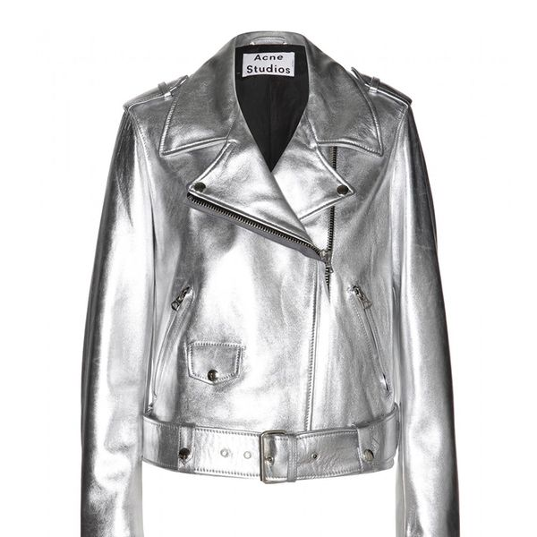 Acne Studios Mape Metallic-Leather Jacket