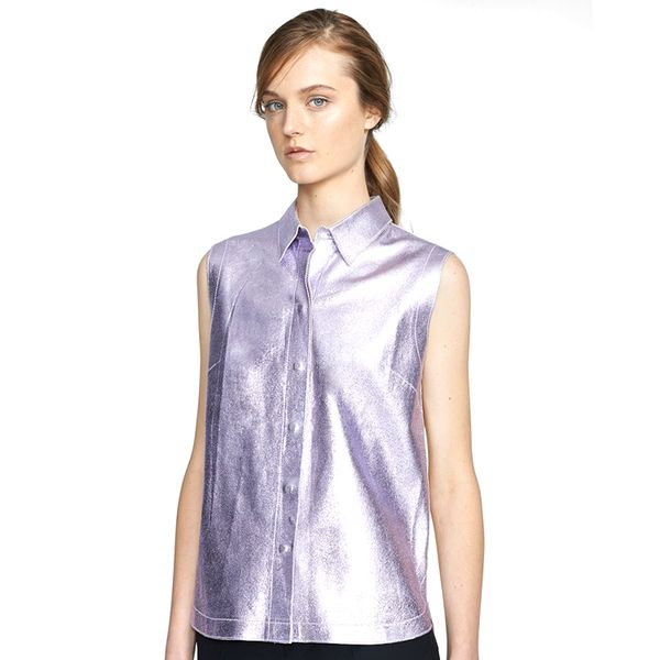 3.1 Phillip Lim Metallic Leather Shirt