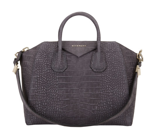 Givenchy Croc-Embossed Medium Antigona Duffel