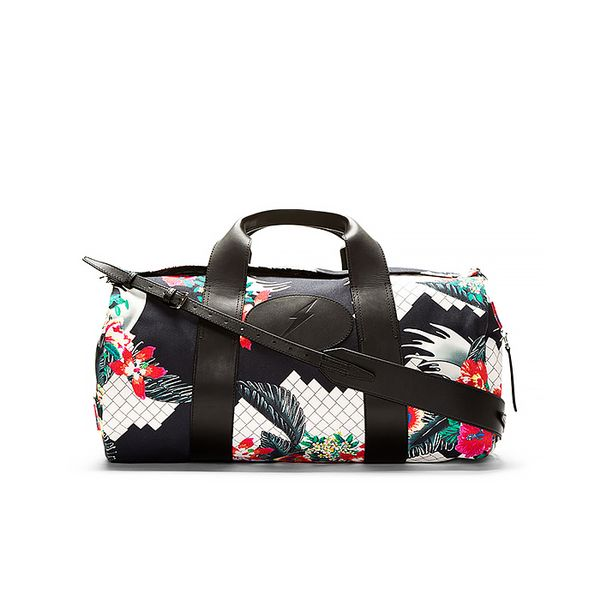 3.1 Phillip Lim Navy New Wave Print Canvas Duffle Bag