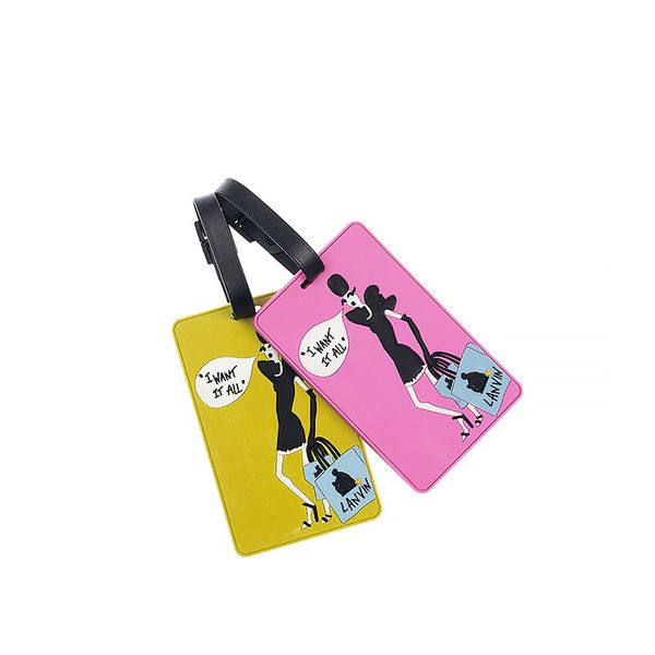 Lanvin Set Of Two Rubber Luggage Tags