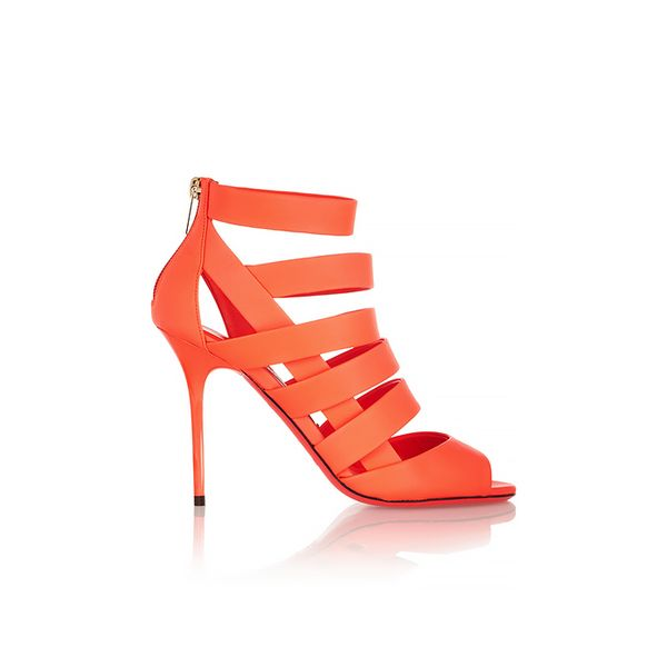 Jimmy Choo Damsen Neon Matte-Leather Sandals