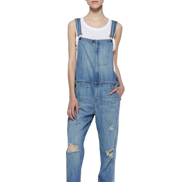 Current/Elliott Ranch Hand Distressed Overalls
