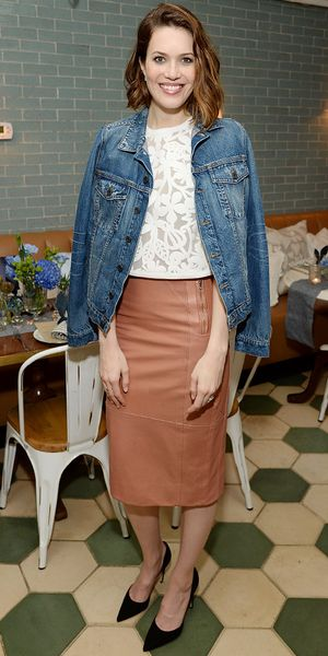 Mandy Moore's Cool Denim Layer