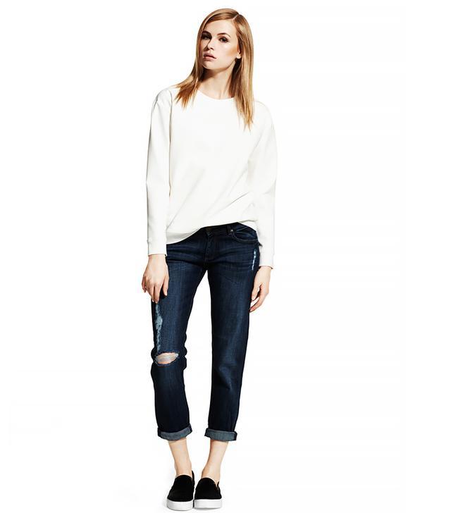 DL1961 Riley Boyfriend Jeans ($168)  Wear These Jeans With: A statement sweatshirt + slip-on sneakers