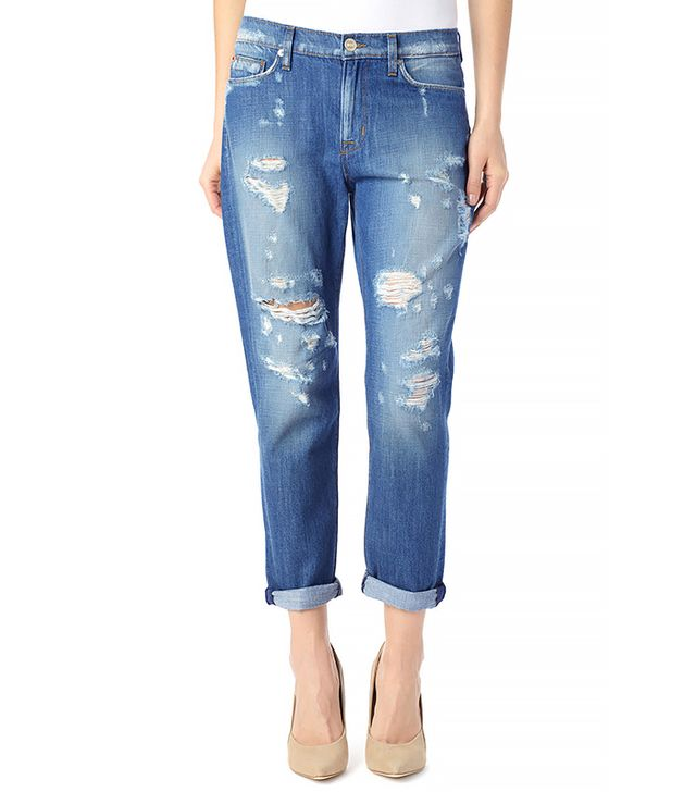 Hudson Jade Slouchy Skinny Crop Jeans ($220)  Wear These Jeans With: A turtleneck + a blazer