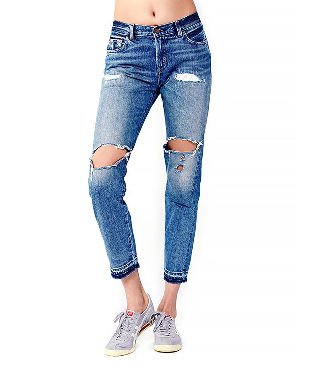 Levi's 505 Customized Boyfriend Jeans ($240)  Wear These Jeans With: A colorful jacket + sporty sneakers
