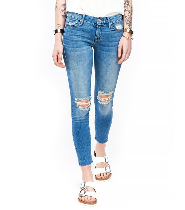 Mother Denim The Looker Jeans ($205)  Wear These Jeans With: An oxford collar blouse + Birkenstocks