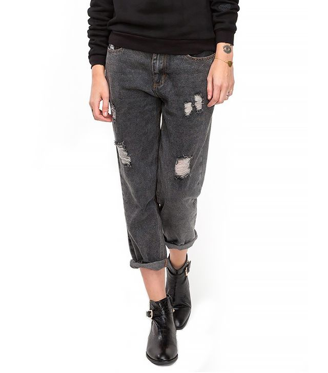 Need Supply Monroe Boyfriend Jeans ($58)  Wear These Jeans With: A patterned sweater + dainty jewelry