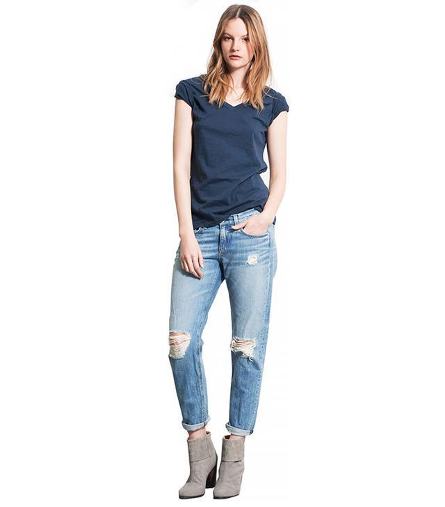 Rag & Bone Boyfriend Jeans ($220)  Wear These Jeans With: A fedora + a Breton-stripe shirt