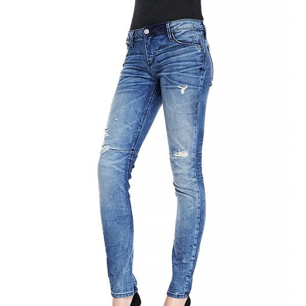RtA Denim 70s Distressed Crinkled Slim Jeans