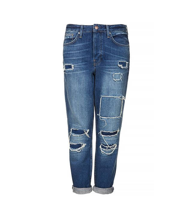 Topshop Moto Hayden Rip and Repair Jeans ($84)  Wear These Jeans With: A cropped sweater + chunky sandals