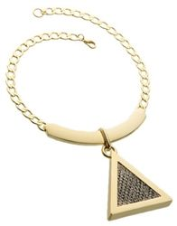 Karla Deras for Roman Luxe Faux Python Pendant Necklace