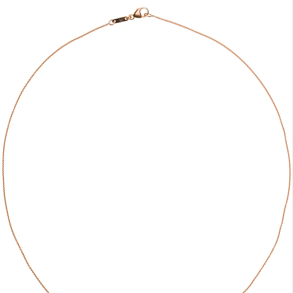 Wouter & Hendrix Gold Single Diamond Necklace