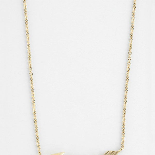 Nadri Boxed Arrow Pendant Necklace