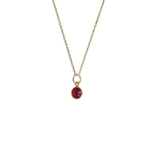 Golden Thread Bezelled Gemstone Necklace