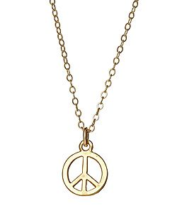 Jessica Elliot Gold Peace Sign Necklace