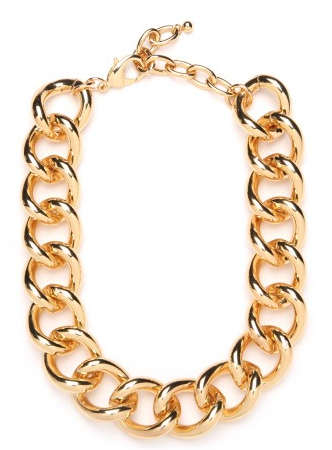 BaubleBar Rolo Chain Collar Necklace