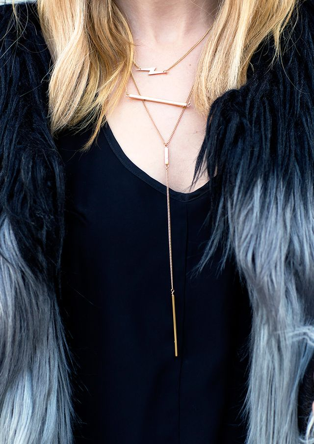 Secret 7: A lariat necklace is the best way to add length.