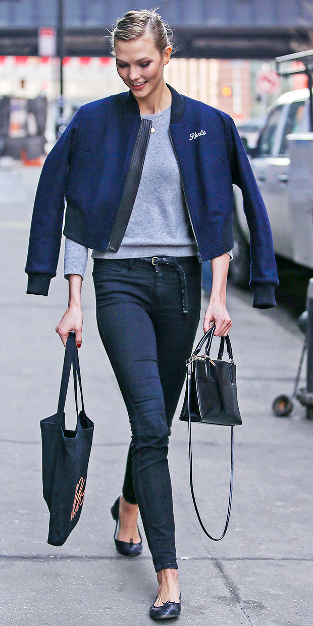 Karlie Kloss Gets Personal With Her Bomber Jacket