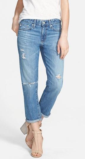 AG Drew Destroyed Boyfriend Jeans