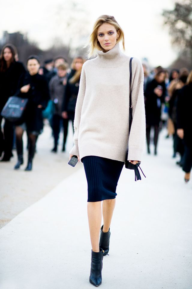 Tip Of The Day: Transition Your Turtleneck To Spring
